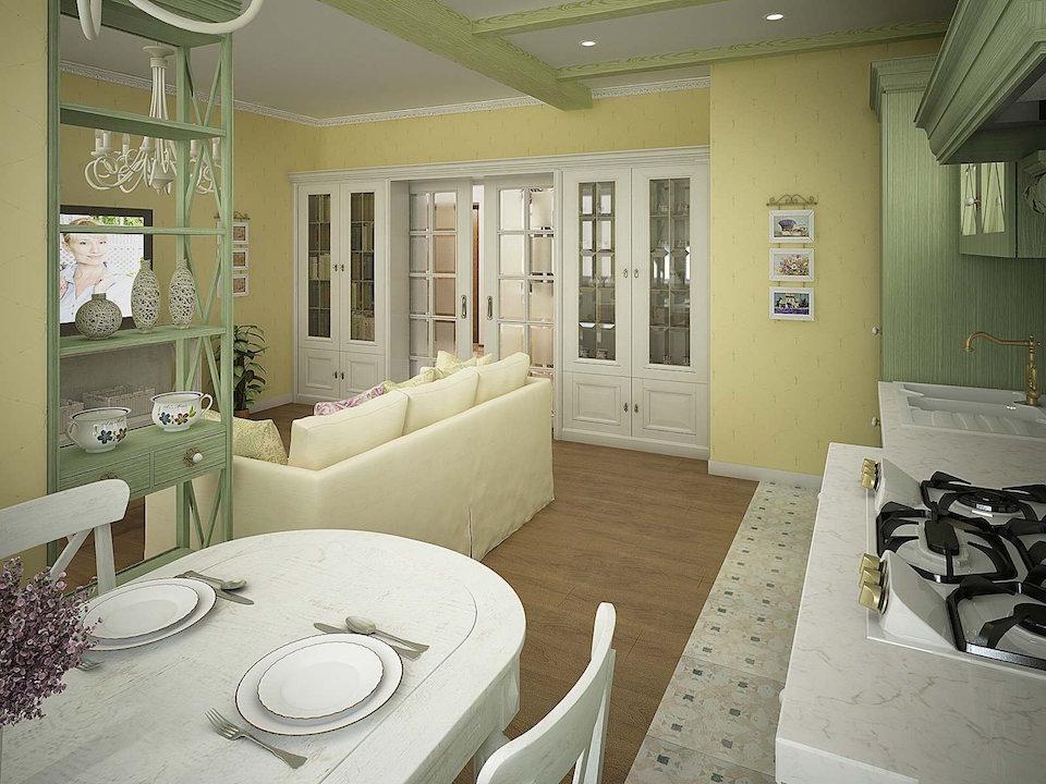 Двухкомнатная квартира в стиле прованс Рис. 5