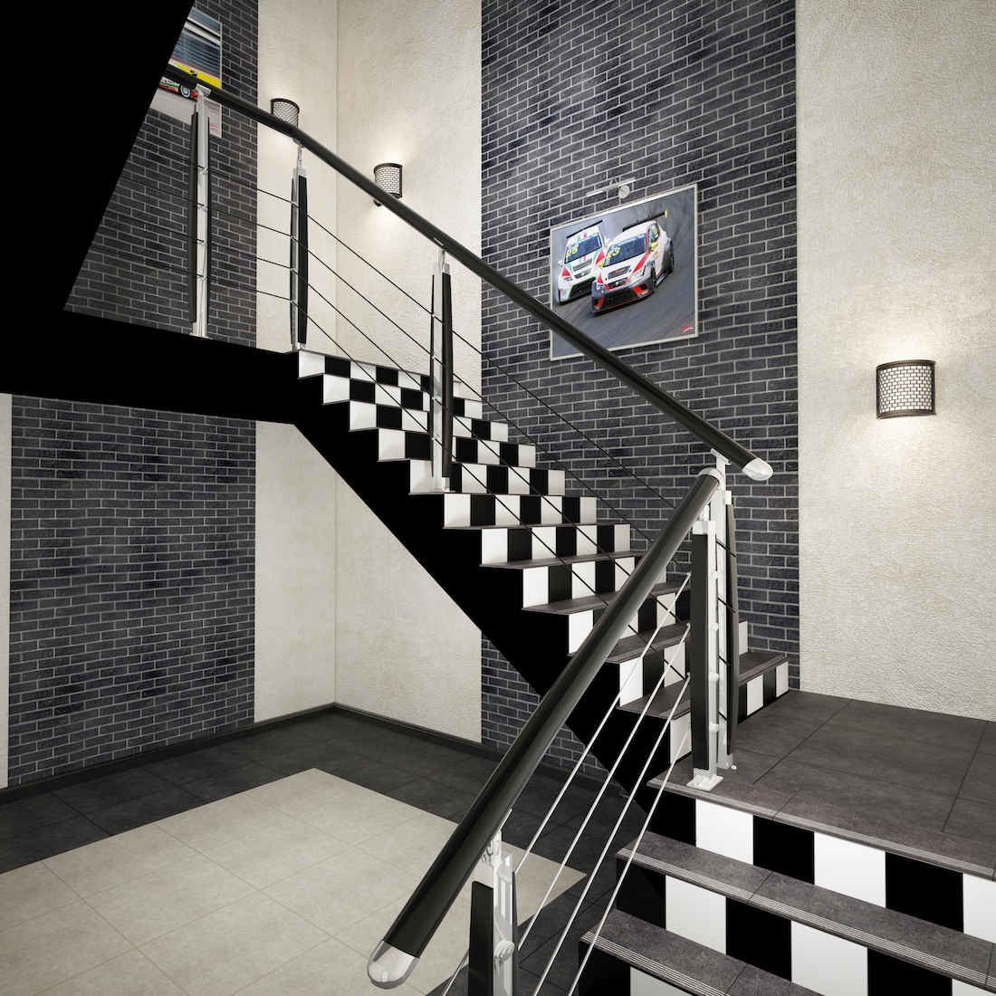 Оформление помещения в картинг-центре Рис. 6