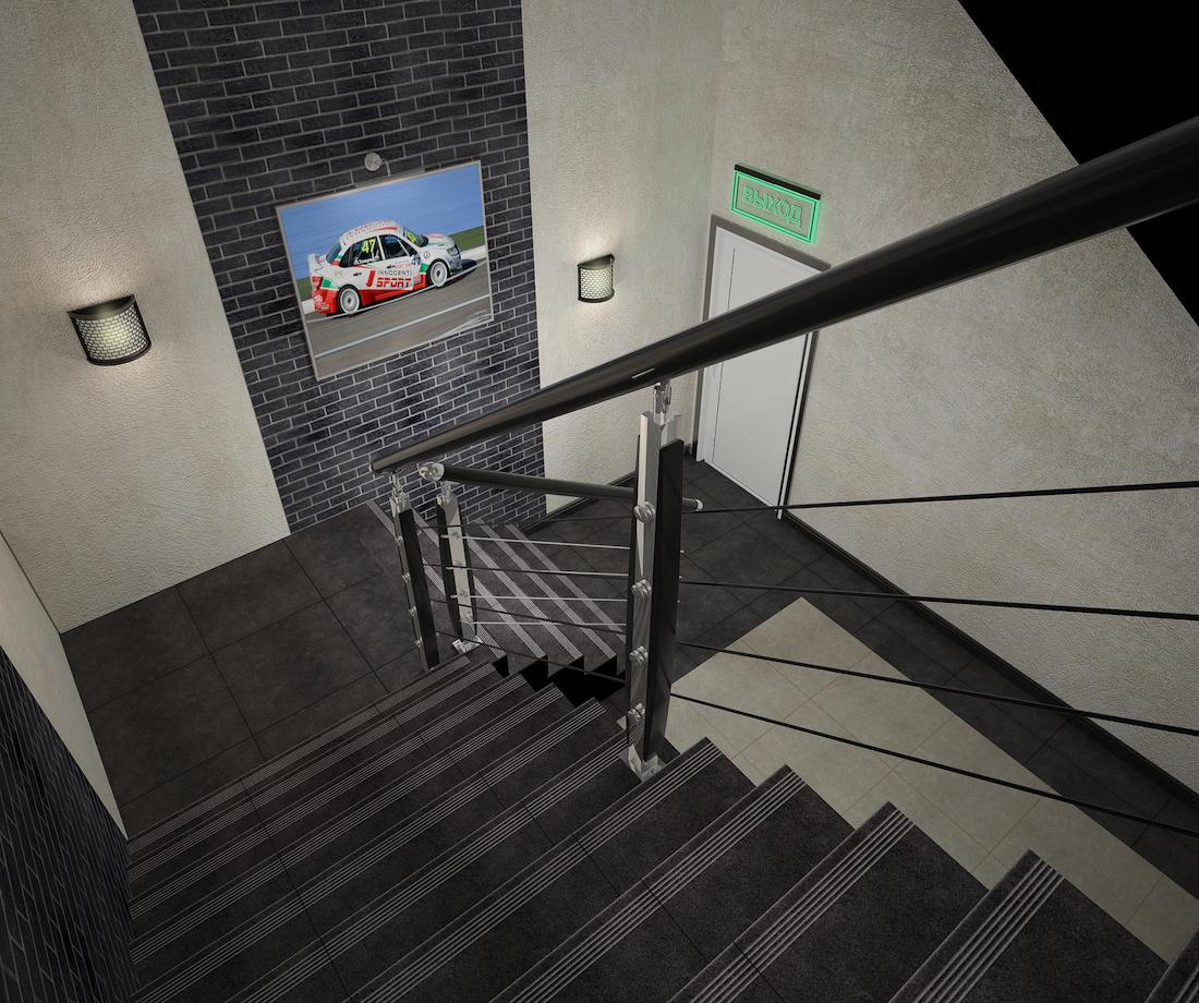 Оформление помещения в картинг-центре Рис. 7
