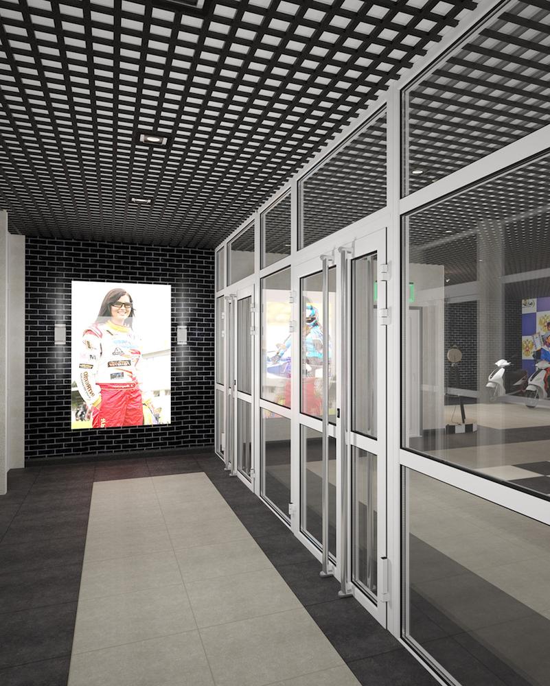 Оформление помещения в картинг-центре Рис. 8