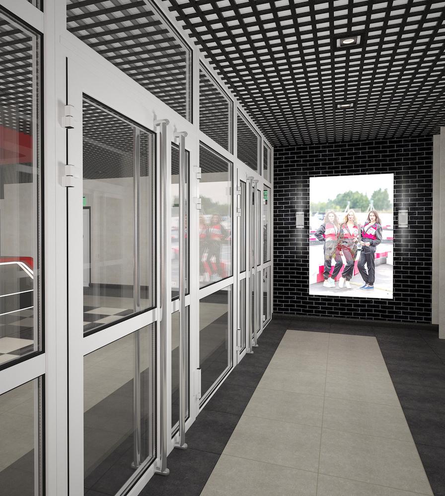 Оформление помещения в картинг-центре Рис. 9