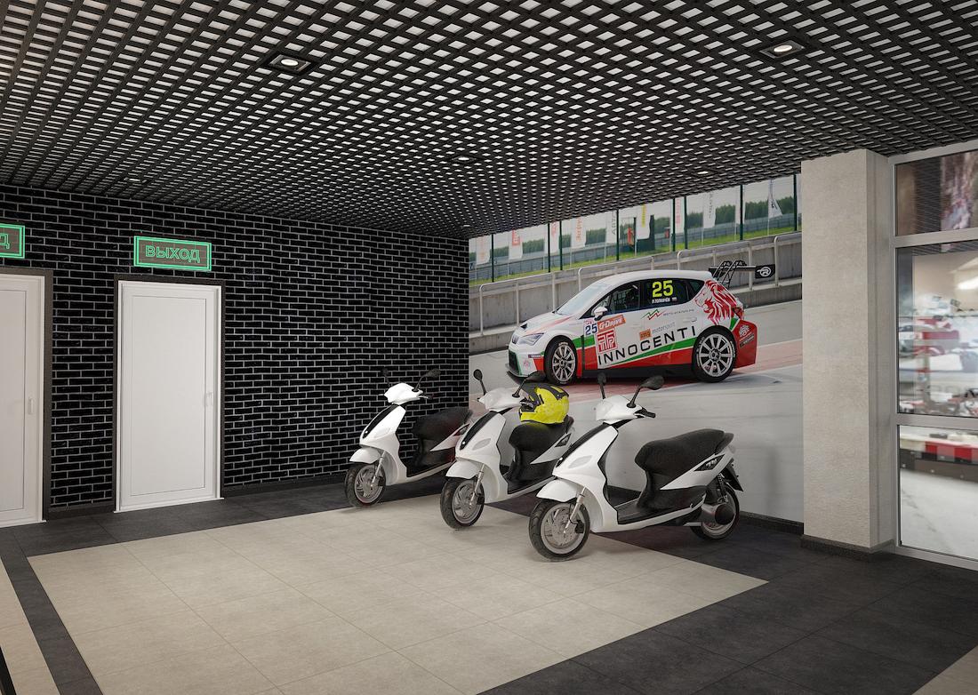 Оформление помещения в картинг-центре Рис. 3