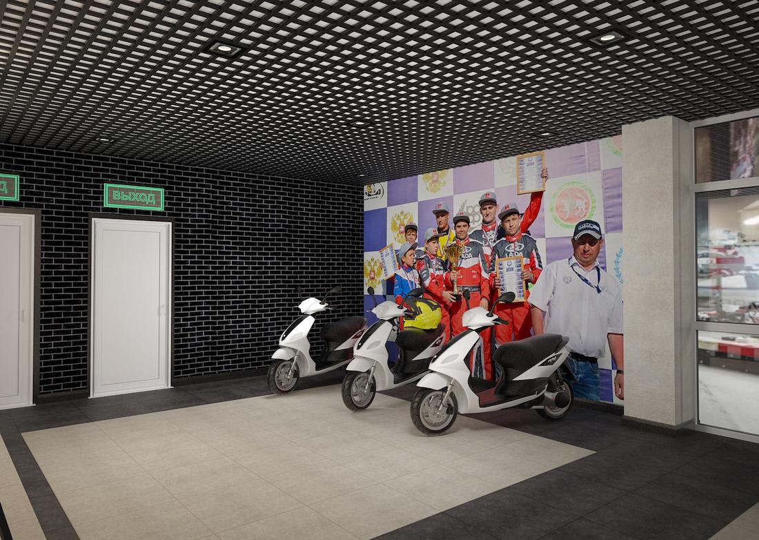 Оформление помещения в картинг-центре Рис. 4