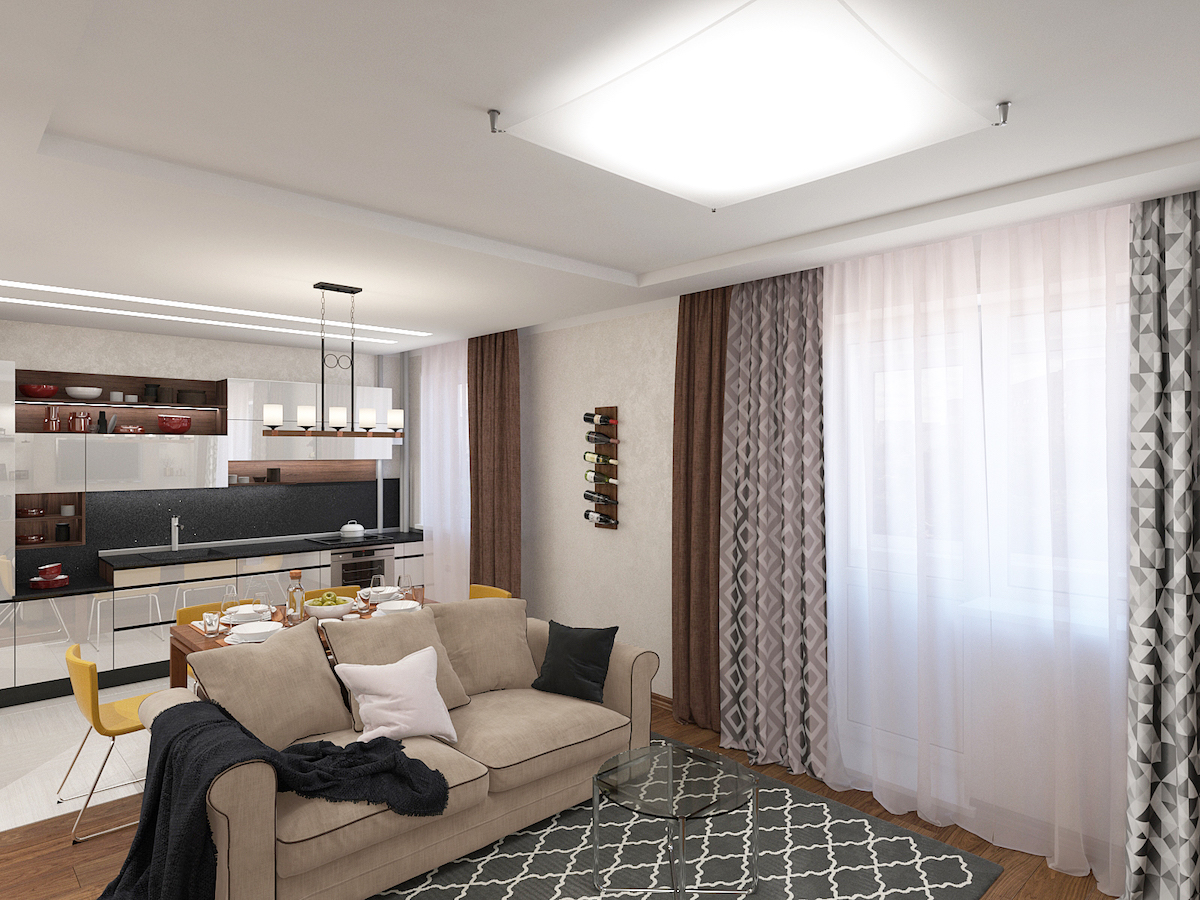 ЖК Европейский, однокомнатная квартира Рис. 5